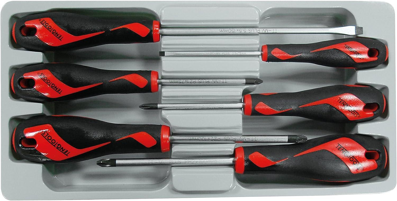 Teng Tools 6 Piece Screwdriver Set (Flat, PH, PZ) - MD906N