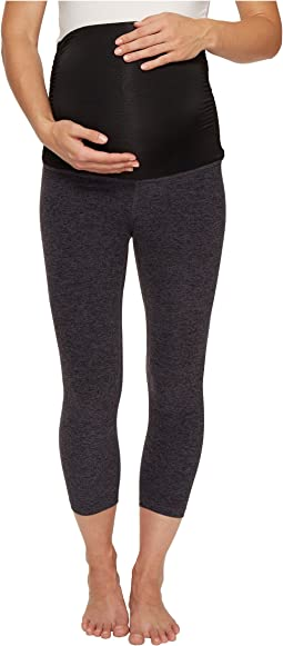 Beyond Yoga - Fold Down Maternity Capri Leggings