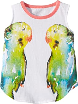 Vintage Jersey Mirrored Birds Tank Top (Toddler/Little Kids)