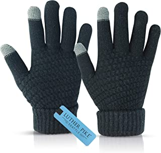 Winter Gloves for Women - Touchscreen Sensitive, Soft Thermal Lining - Elastic Cuff, Flexible Fabric