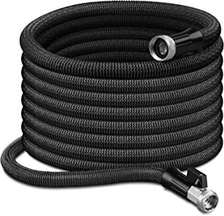GrLeaf Expandable Garden Hose - 100ft Lightweight Kink Free Flexible Water Hose with Double Latex Core, 3/4