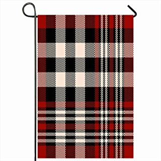 Onete Garden Flag 12x18 Inches Tartan Check Plaid Pattern Tablecloth Place in Checkered Mens Christmas UK Beauty Fashion Textures Outdoor Seasonal Home Decor Welcome House Yard Banner Sign Flags