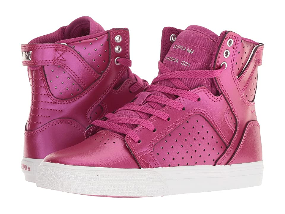 Supra Kids Skytop (Little Kid/Big Kid) (Berry Pink/White) Kids Shoes