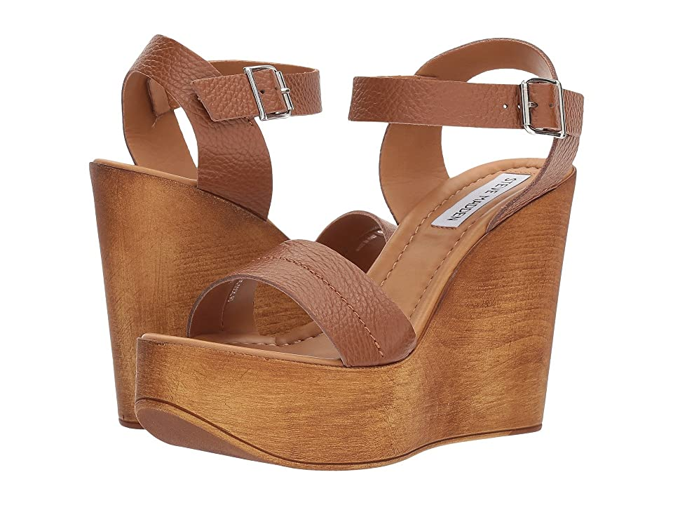 Steve Madden Belma Wedge Sandal (Tan Leather) Women