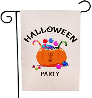 """Fiuqaomy Halloween Party Magic Garden Flag Vertical Double Sized, Holiday Burlap Yard Outdoor Decoration 12.6"""" 18.5"""""""