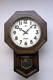 さんてる(Suntel) 掛け時計 ブラウン 480×295×120mm ボンボン時打ち 八角振り子時計(アラビア文字) SQ02-A