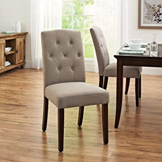 Better Homes and Gardens Parsons Tufted Dining Chair (Taupe)