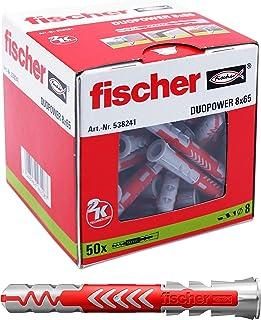 fischer DUOPOWER 8 x 65, universele pluggen, krachtige 2-componenten pluggen, kunststof pluggen voor bevestiging in beton,...