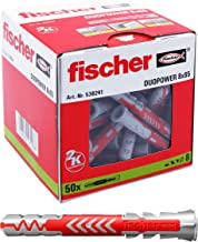 fischer DUOPOWER 8 x 65 universele pluggen voor het bevestigen van hangkasten, wandplanken in beton, metselwerk, plaatbouw...