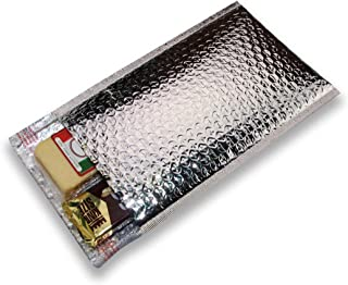 100 pcs 6x6 Metallic Glamour Cool Shield Thermal Bubble Mailers Thermal Cool by ZebraPack