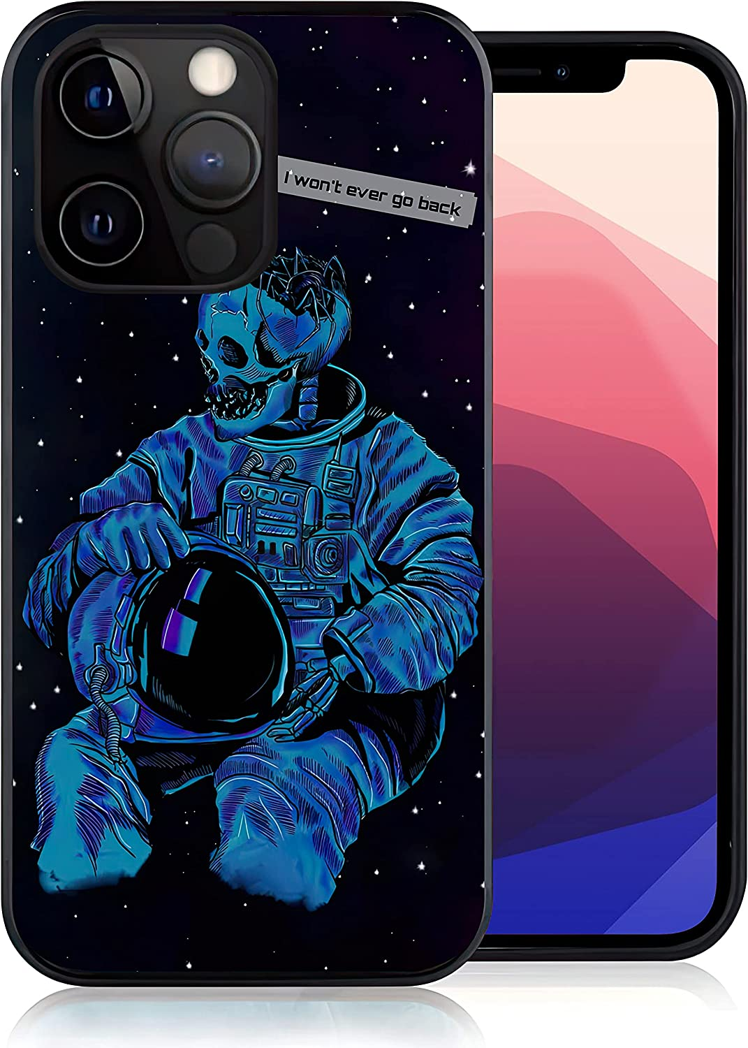 Elightvap Compatible with iPhone 13,Astronauts Skeletons Designed for Women Men,Gel Rubber Full Body Protection Shockproof Drop Protection Cover TPU Case-iPhone 13-6.1 inch