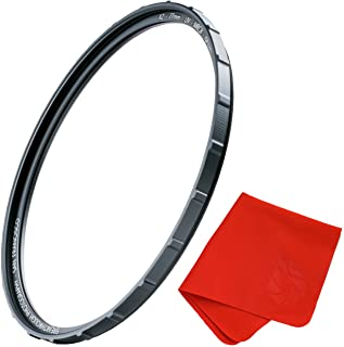 72mm X2 UV Filter For Camera Lenses - UV Protection Photography Filter with Lens Cloth - MRC8, Nanotech Coatings, Ultra-sl...