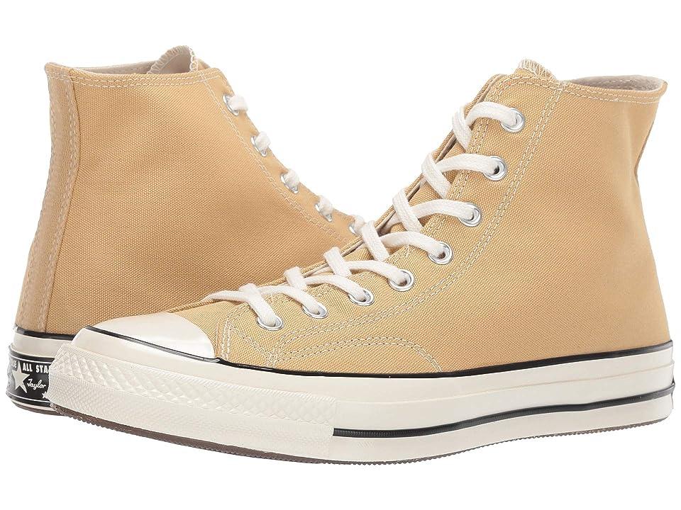Converse Chuck Taylor(r) 70 Vintage Canvas Hi (Club Gold/Egret) Shoes