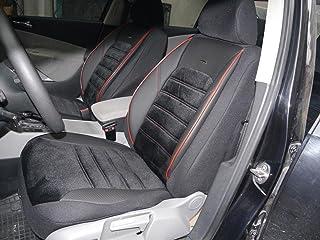 Sitzbezüge K Maniac für Mercedes B Klasse W246   Universal Schwarz Rot   Autositzbezüge Set Komplett   Autozubehör Innenraum   No. 4A   Kfz Tuning   Sitzbezug   Sitzschoner