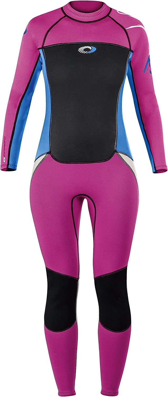(Large, Pink blueee)  Osprey Girl's Origin 3 2 Mm Summer Wetsuit