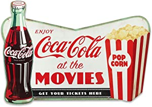 Open Road Brands Coca-Cola Movie Sign - Vintage Drink Coca-Cola Movie Wall Décor for Theater Room, Basement or Living Room