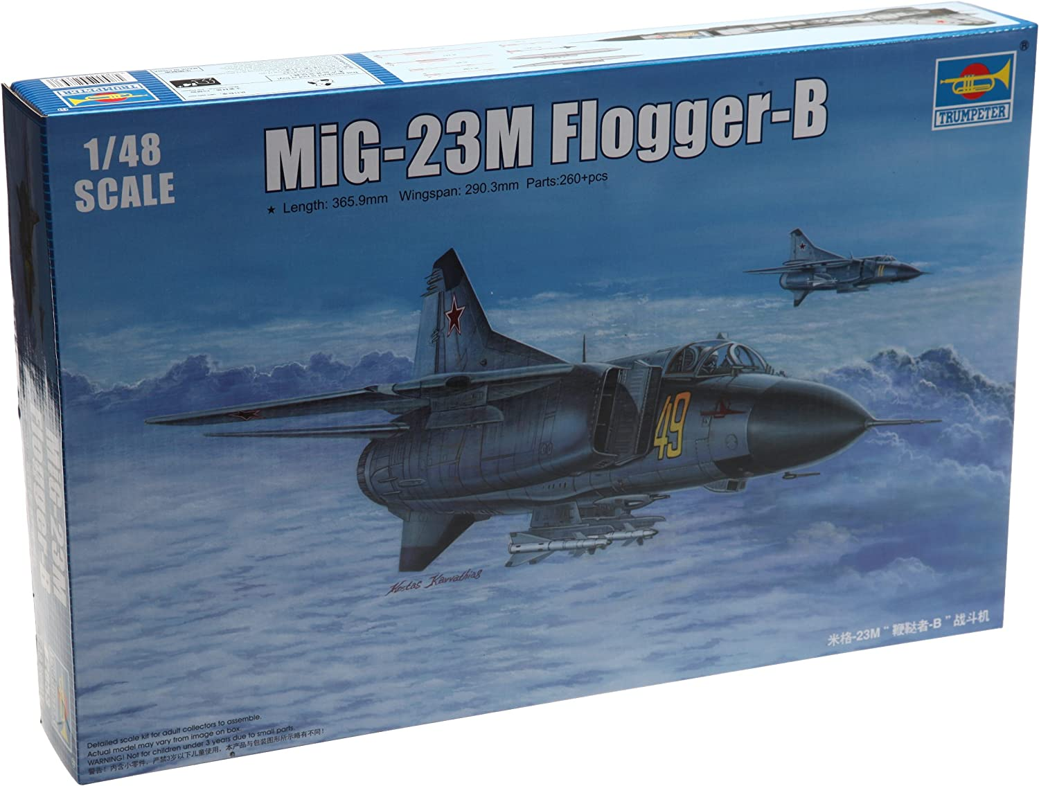 Trumpeter 02853 Modellbausatz Russian MiG-23M Flogger-B B007V2XU7A Deutschland  | Up-to-date-styling