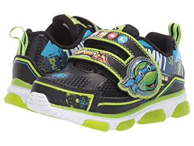 Josmo Kids Ninja Turtles Sneaker (Toddler/Little Kid) (Black/Green) Boy