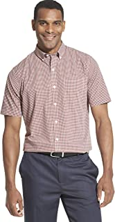Van Heusen Men's Big and Tall Flex Short Sleeve Button Down Check Shirt