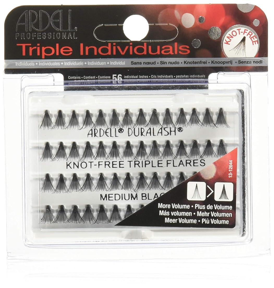 除去望み上に築きますArdell Triple Lashes - Knot Free Triple Flare - Medium Black