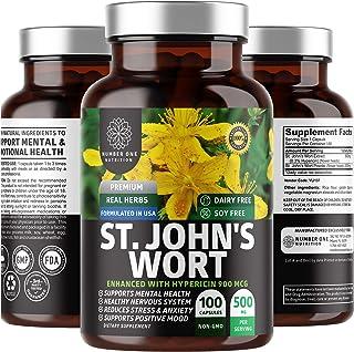 N1N Premium St Johns Wort Supplement [Potent 900mcg Hypericin] All Natural Supplement to Support Positive Mood, Mental Wel...