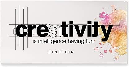 Creativity is Intelligence Having Fun Rustic Wood Wall Sign 9x18