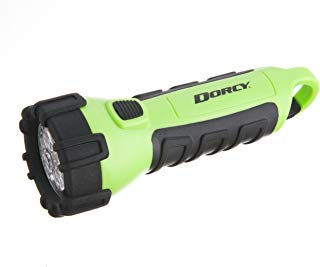 Dorcy 55 Lumen Floating Waterproof LED Flashlight with Carabineer Clip Dorcy, Neon Green (41-2513)