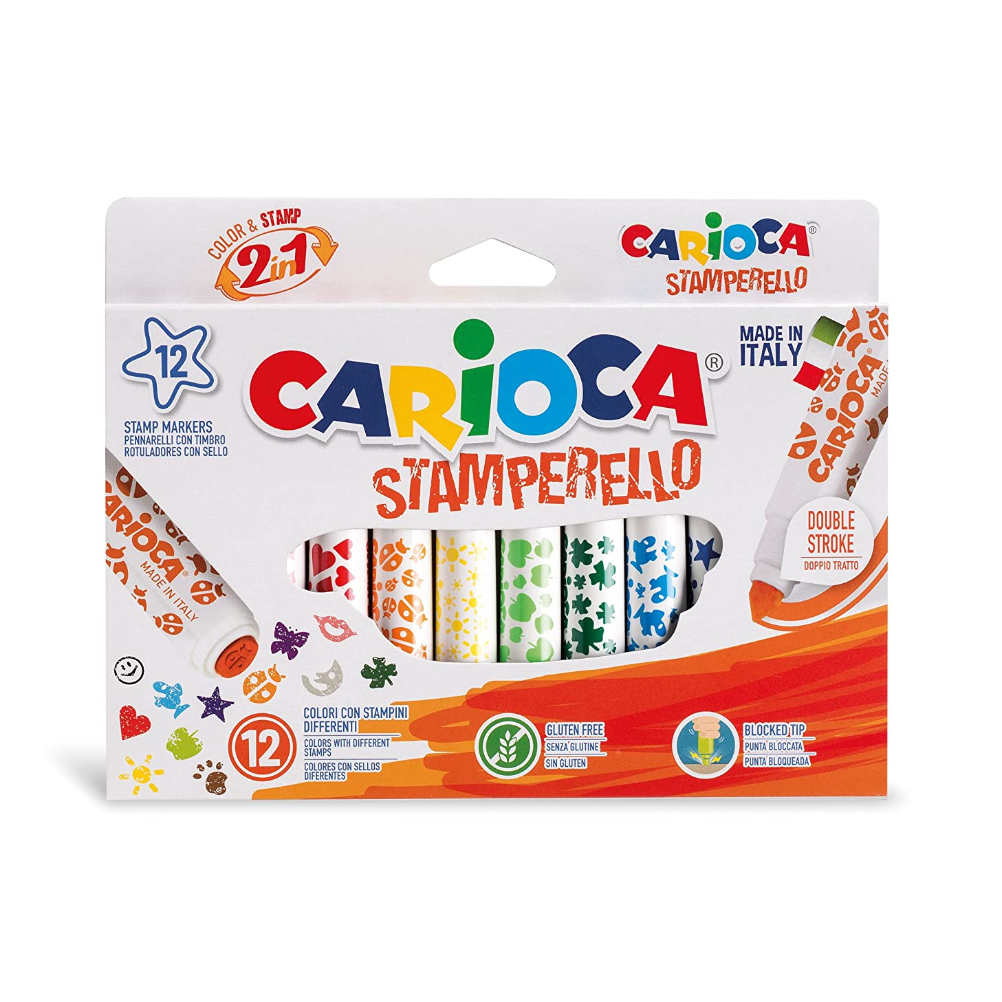 Carioca Special Double Tip Stamp Markers (Set of 12 Markers)