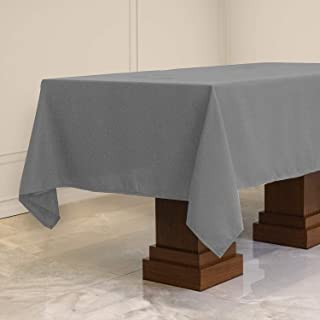 Kadut Rectangle Tablecloth (60 x 102 Inch) Charcoal Rectangular Table Cloth for 6 Foot Table | Heavy Duty Fabric | Stain P...
