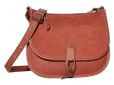 The Sak Playa Leather Saddle Bag (Clay) Handbags