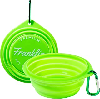 Franklin Pet Supply Collapsible Pet Travel Bowl BPA Free...