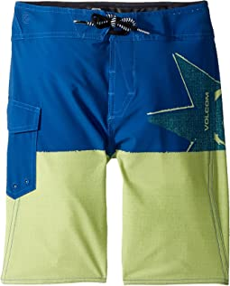 Volcom Kids - Lido Block Mod Boardshorts (Big Kids)