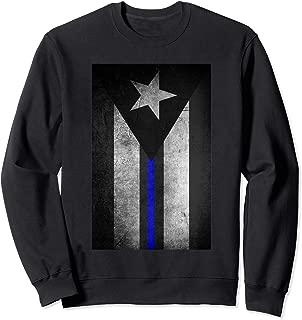 Puerto Rico Flag Police Thin Blue Line Dirty Sweatshirt