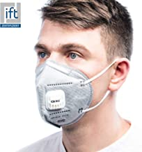 ViTho [25 Stück] KN95/FFP2 Atemschutzmaske inkl. Ventil | Atmung Schutz gegen Staub, Pollen, Abgase, Luftverschmutzung