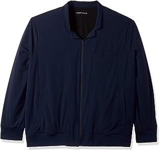 Perry Ellis Men's Big and Tall Reversible Tech Jacket Casual Blazer