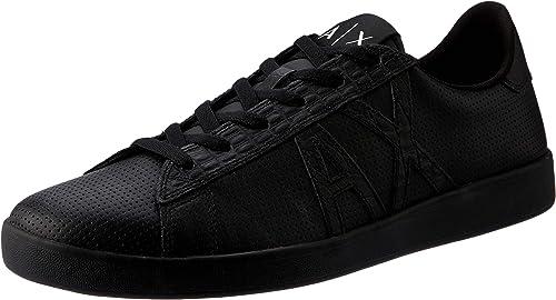 Armani exchange lace up sneaker, scarpe da ginnastica basse uomo XUX016XCC54 100