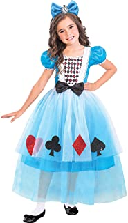 amscan Suit Yourself Miss Wonderland Halloween Costume for Girls, Medium, with Headband, Multicolor (8402382)
