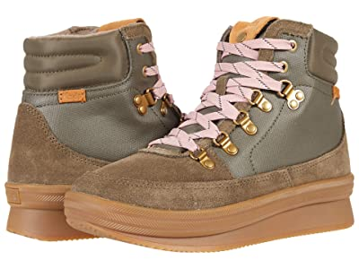 Keds Midland Boot Suede Splash Canvas WX (Bungee Cord Olive) Women