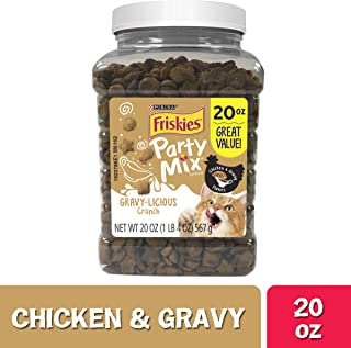 Purina Friskies Party Mix Chicken Adult Cat Treats - 20 oz. & 30 oz. Canisters