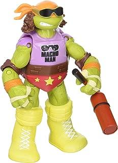WWE Michelangelo as Macho Man Teenage Mutant Ninja Turtles TMNT Ninja Superstars Playmates Toy Wrestling Action Figure