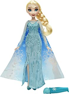 Disney Frozen Elsa Magical Story Cape Doll - Beautiful Queen Elsa 12-Inch Doll - Use Water Wand to Paint Removable Cape to Reveal Surprise Images