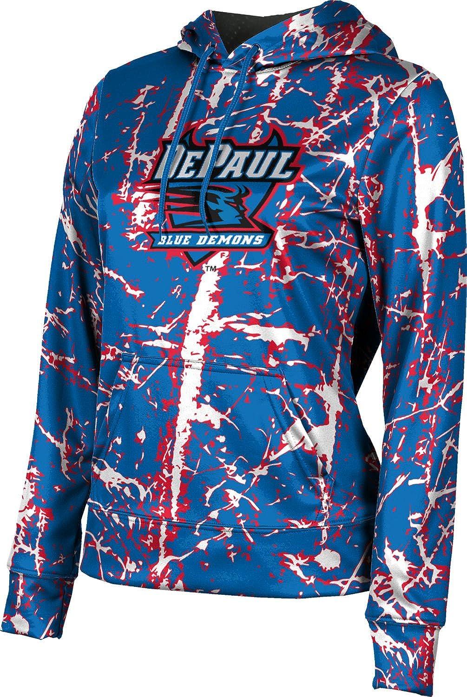 ProSphere DePaul University Girls' Pullover Hoodie, School Spirit Sweatshirt (Distressed)