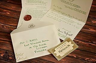 Lettera di ammissione ad Hogwarts (versione scritta a mano)