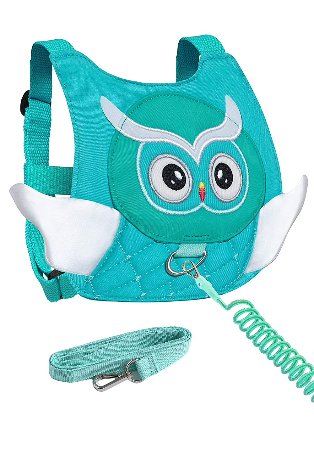 Owl Toddler Harness with Leash Kid Anti-Lost Wrist Link Leash Child Wristband (Light Green)