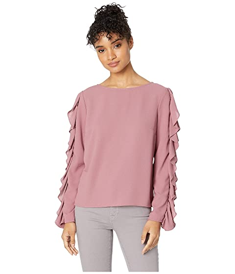 59d1f302ab 1.STATE Long Sleeve Slit Ruffle Sleeve Blouse at Zappos.com