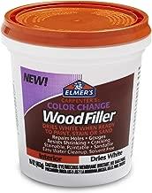 Elmer's Carpenter's Relleno para madera, cambio de color, 118 ml, natural (E912), Blanco, 453 gramos (16 onzas)