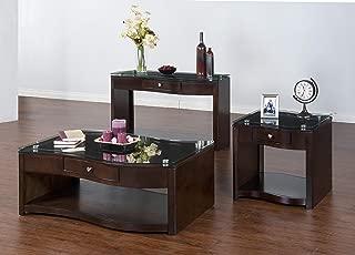 Sunny Designs 3177E-C Espresso Coffee Table with Glass Top