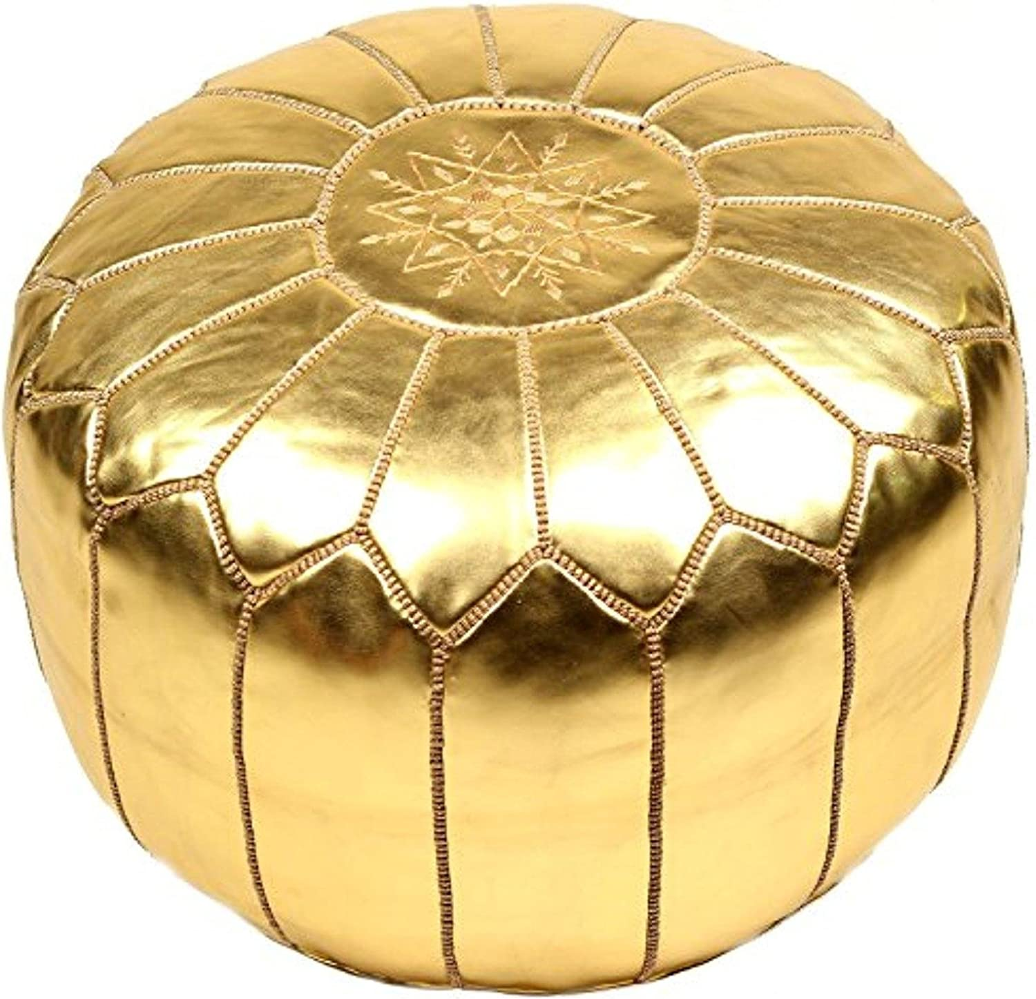 La Bohemia   Beautiful Handmade gold Footstool Pouf from Marrakech   Colour gold   Delivered unstuffed