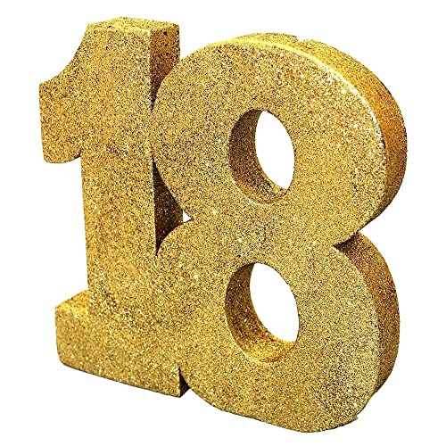 Gold Glitter Number Table Decoration 18