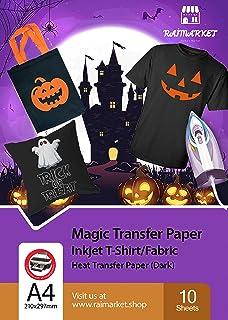 comprar comparacion Hierro sobre papel de transferencia para tela oscura (Magic Paper) de Raimarket   10 hojas   A4 Transferencia de hierro pa...